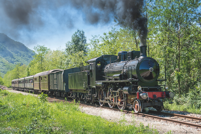 Italian steam train