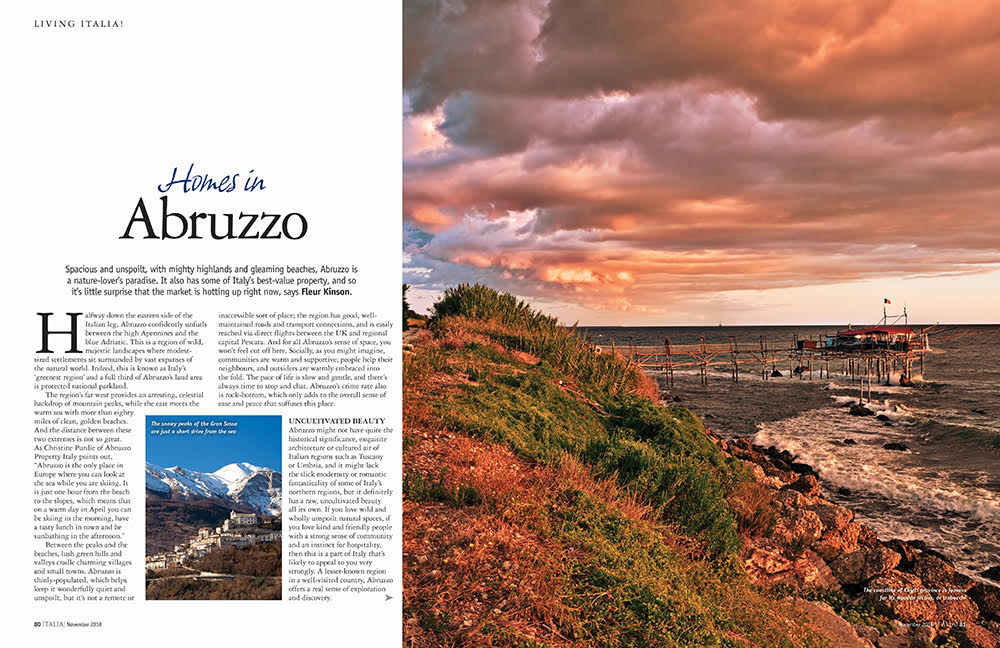 Italia issue 168 buy a home in Abruzzo