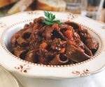 Chocolate pappardelle with wild boar ragù