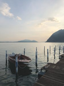 Boat on Lake Iseo