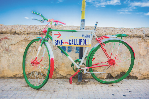 Gallipolli bike hire, Puglia