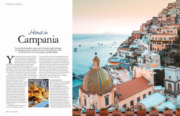 Italia magazine 170 Campania property feature