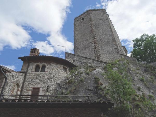 12th-century tower in Castel di Tora, Italy