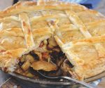 Hare and mushroom pie