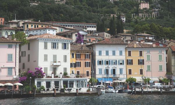 Gargnano houses. Lake Garda, Italy
