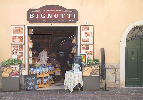 Bignotti Deli in Gargnano, Lake Garda