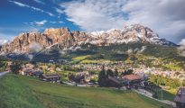 View of Cortina D'Ampezzo , Italy