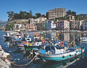 Capri Marina Grande boats, Campania, Italy