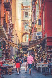 Naples streets, Italy