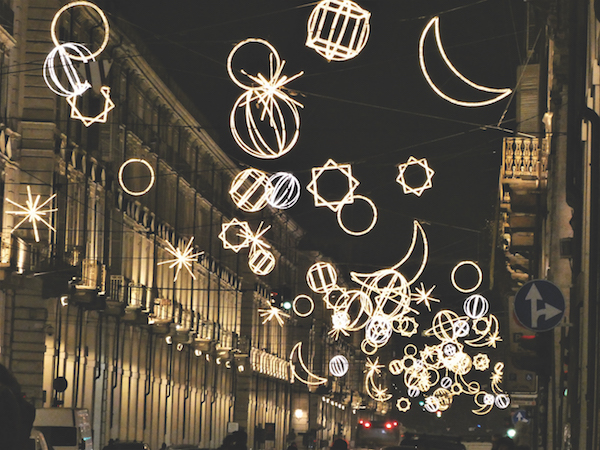 Lights in Turin Italy