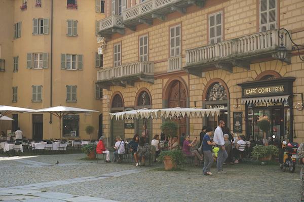 Piazza della Consolata and Caffè Al Bicerin, Italy