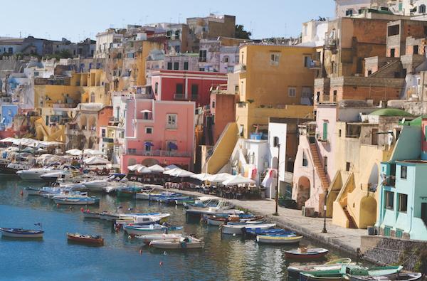 Procida houses, Campania, Italy