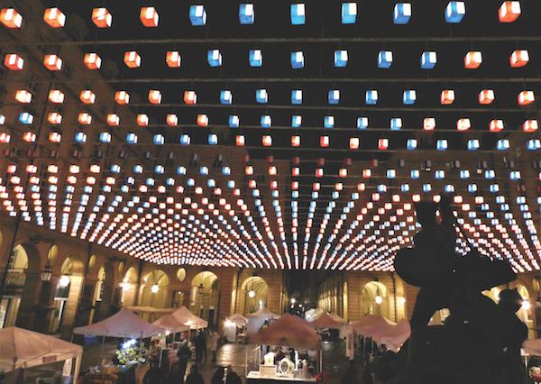 Tappeto Vollante by Daniel Buren, Piazza Palazzo di Citta, Turin, Italy