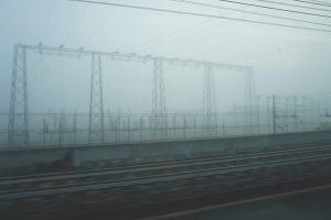 Milan train tracks Italy