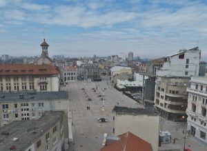 View of Piata Ovidiu from the Great Mosque Minaret
