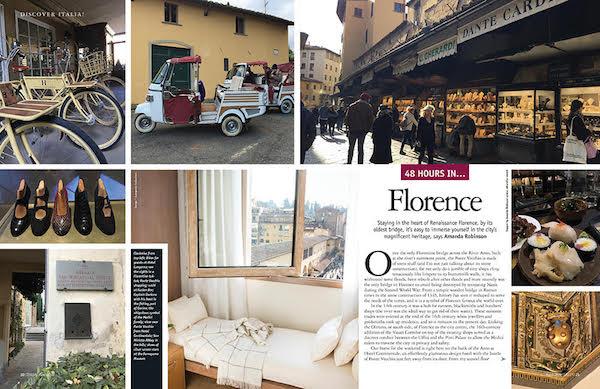 Italia! magazine Florence weekend article