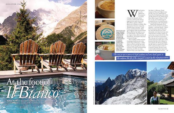 Italia! magazine Val d'Aosta feature