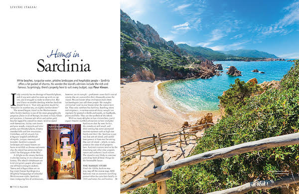 Italia! magazine homes in Sardinia article