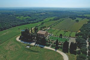aerial view of the Relais di Biserno