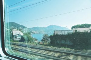 Train journey Liguria, Italy