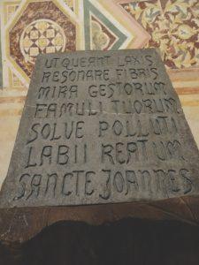 Guido d'Arezzo's inspirational prayer, Po Delta, Italy