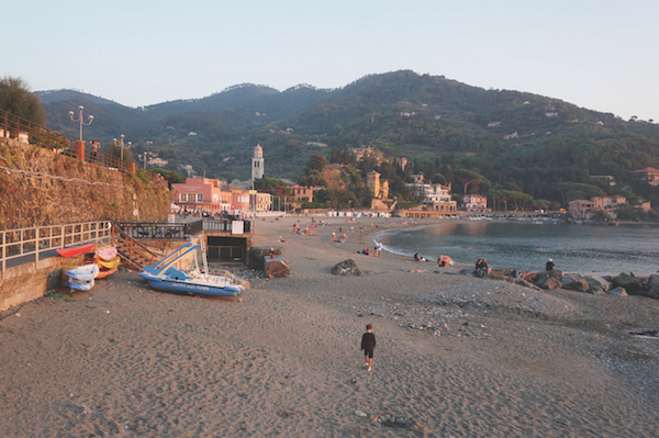 Levanto beach, Liguria, Italy