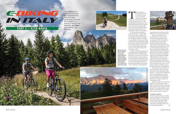 italia magazine cycling dolomites feature