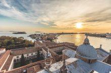 Venice lagoon sunset