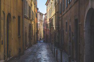 Ancona street, Marche, Italy