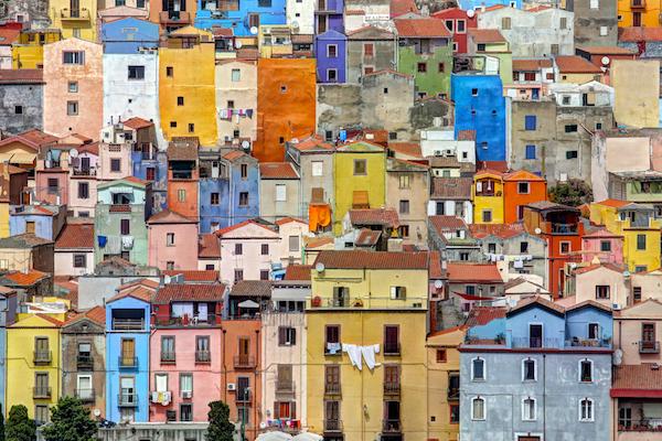 Bosa in Sardinia, Italy