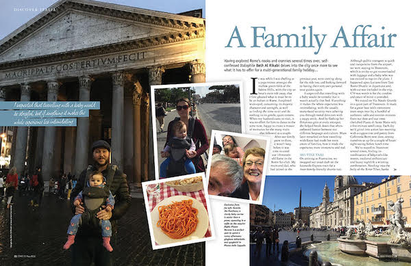 family travel in Rome feature issue 174