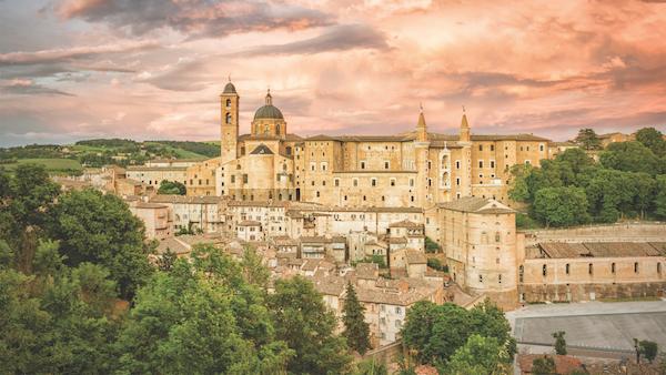 Urbino in Le Marche, Italy