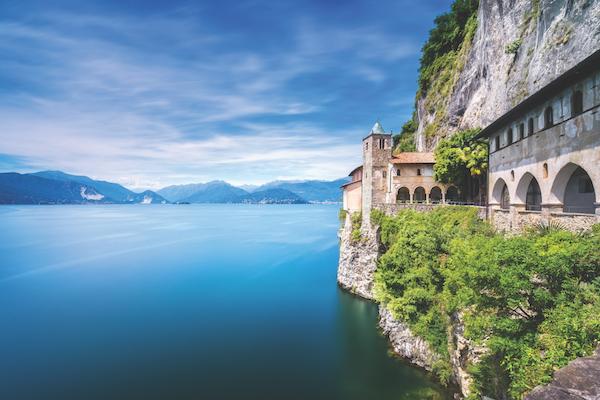 Hermitage of Santa Caterina del Sasso, Italy