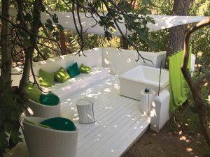 Su Gologone veranda, Sardinia