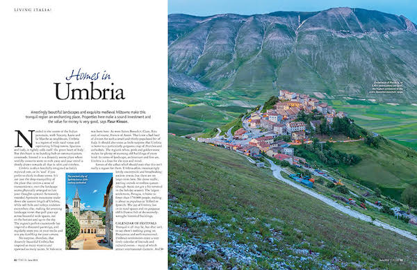 Italia! magazine issue 175 - homes in umbria