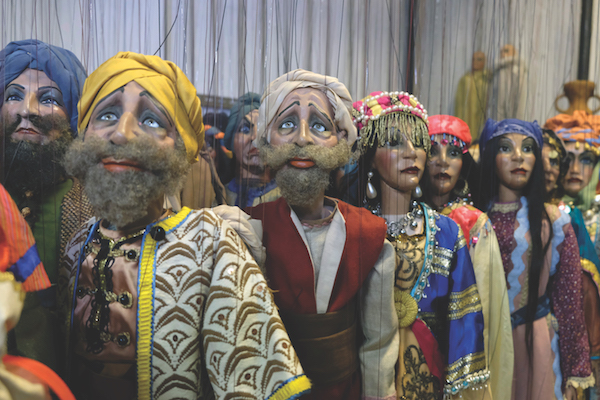 Marionettes in the warehouse of the Carlo Colla and Sons