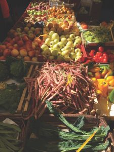 Market fruit and veg, Rome