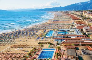 Beach in Viareggio, Italy