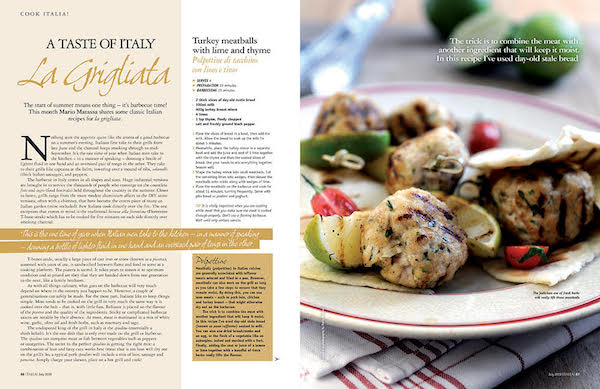 Italia! issue 176 food article