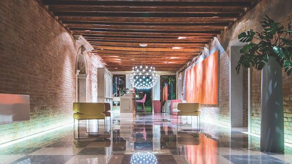 Lobby of Hotel Heureka, Venice