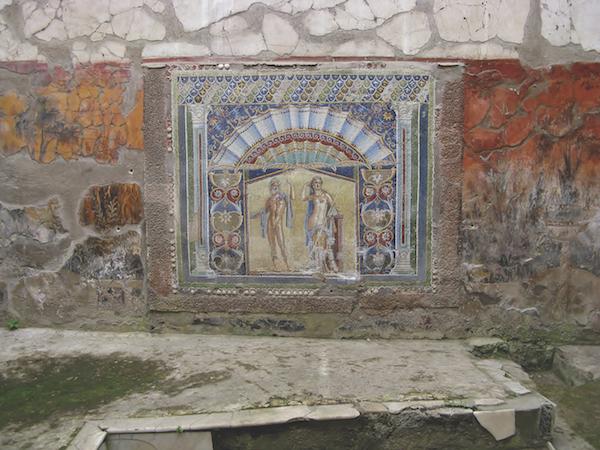 Mosaic of Neptune and Amphitrite in Herculaneum