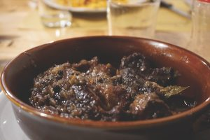 Peposo or peppery beef stew