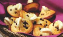 Chocolate chip and banana mini yoghurt muffins for picnic
