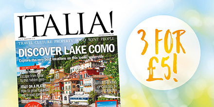 3 issues of Italia! magazine for £5