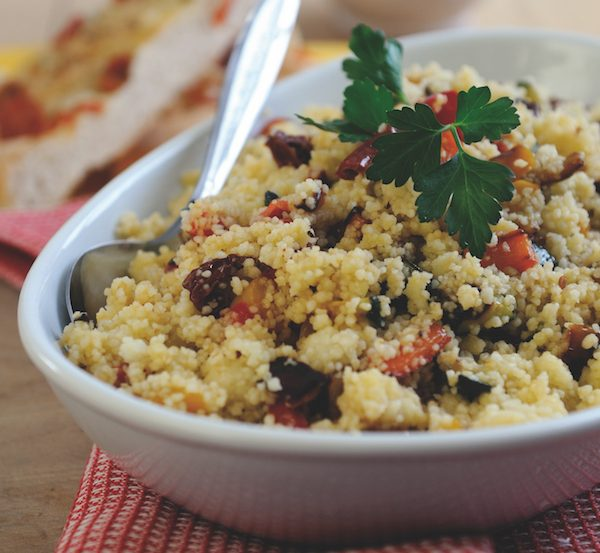 grilled vegetables with couscous