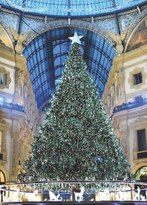 Christmas tree in Milan