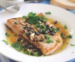 Swordfish with capers, pine nuts and lemon