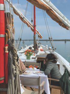 Sailing on Venetian lagoon