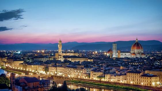 Florence at night