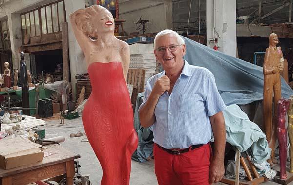 Rod Dudley's studio
